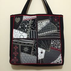Machine Embroidered Crazy Patch Tote