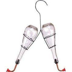 Make your own wine bottle hummingbird feeder.