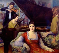 Leon Kroll (1884-1974) After the Concert (The Sonata) (1922)