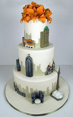 Gorgeous architecture cake.