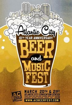 THIS EVENT IS IN ATLANTIC CITY!Over 150 different breweries from around the corner to across the country will showcase their unique libations. The goal of The Atlantic City Beer Festival is to promote and educate attendees on craft beers and…