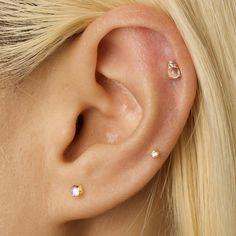 Bar Stud Earrings, Crystal Earrings, Sterling Silver Earrings, Topaz Earrings, Silver Rings, Pierced Earrings, Ear Peircings, Cartilage Piercings, Multiple Ear Piercings