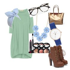 """""""simple"""" by demasonam on Polyvore featuring Isolde Roth, JustFab, Ace, Laura Geller and J.Crew"""