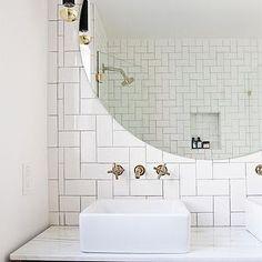 Kohler Purist Faucet, Vintage, bathroom, Smitten Studio