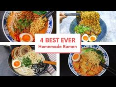 4 BEST EVER Easy Homemade Ramen Recipes You Must Try at Home #BingeWatch - YouTube Ramen Recipes, Asian Recipes, Ethnic Recipes, Seonkyoung Longest, Homemade Ramen, Noodle Soup, Noodles, Chefs, Cooking