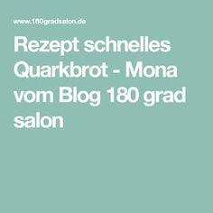 Rezept schnelles Quarkbrot - Mona vom Blog 180 grad salon
