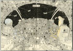 Lines and cables, thoughts on flight by Mattias Adolfsson, via Behance