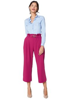 Look Office, Queen Outfit, Wide Leg Cropped Pants, My Wardrobe, Casual Looks, Work Wear, Ideias Fashion, Casual Outfits, Street Style