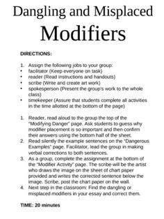 Printables Dangling Modifier Worksheet what are misplaced and dangling modifiers einstein explains the cooperative group activity