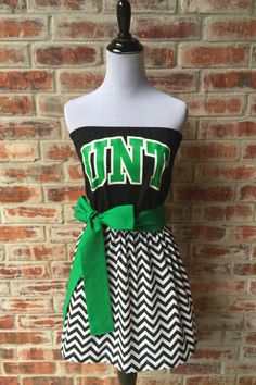 University of North Texas UNT Eagles Strapless Game Day Dress - Size Small by jillbenimble on Etsy