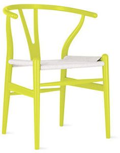 Wishbone Chair #chair #chartreuse #yellow #home
