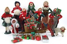 Vintage Large Lot Byers Choice Christmas Carolers Eight