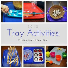 Teaching 2 and 3 Year Olds: A Collection of Tray Activities. This also has many wonderful skill building and fine motor skills for children with Down Syndrome