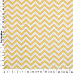 (Hancock Fabrics ) Yellow Zig Zag Stripes