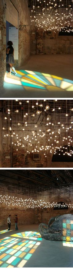Spencer Finch's Moonlight and Moondust.  If I got married indoors, I'd be okay with romantic rustic.