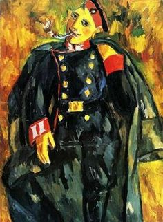 Mikhail Larionov - 1908 The Soldier (Private Collection) Franz Marc, Russian Painting, Russian Art, August Macke, Avantgarde, Russian Avant Garde, Avant Garde Artists, Georges Braque, Art Database