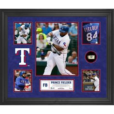 Prince Fielder Texas Rangers Fanatics Authentic Framed 5-Photograph Collage with Piece of Game-Used Ball - $149.99