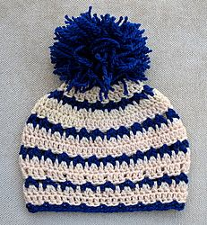 "Free pattern for ""Crochet Beanie Hat""...love the colors & stitch!"
