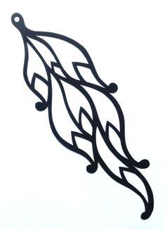 cut paper design Curly Earring Design