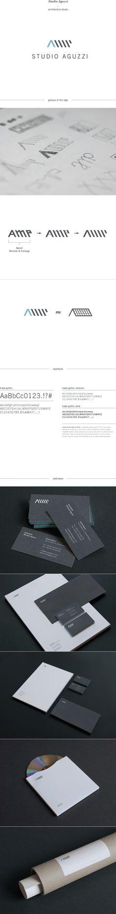 Like this Branding - Studio Aguzzi - Architecture Studio by Giorgia Smiraglia Brand Identity Design, Graphic Design Branding, Corporate Design, Identity Branding, Visual Identity, Typography Logo, Typography Design, Logo Inspiration, Beste Logos