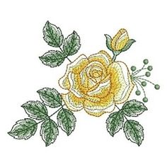 Sketched Roses 2, 11 - 4x4 | What's New | Machine Embroidery Designs | SWAKembroidery.com Ace Points Embroidery