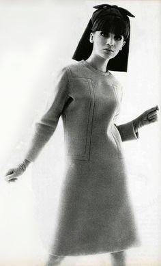 BW Vintage Retro Fashion Photography ~ Jean Patou 1960's