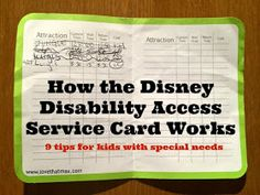 Love That Max: Special Needs Blog : How the Disney disability card works: 9 tips for parents of kids with special needs