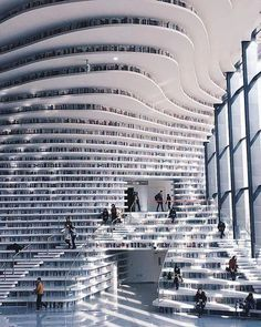 Tianjin Binhai Library by MVRDV (i.it) submitted by PM_ME_BOOBPIX to /r/ArchitecturePorn 0 comments original - Architecture and Home Decor - Buildings - Bedrooms - Bathrooms - Kitchen And Living Room Interior Design Decorating Ideas - Tianjin, Architecture Design, Beautiful Architecture, Skyscraper, Beautiful Places, Wonderful Places, Scenery, Places To Visit, Travel Photography