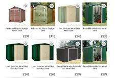 8x6 sheds for sale online. Free UK delivery from Greenhouse Stores. #greenhousestores