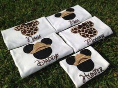 Safari Disney World Shirts for the Family Mickey & by CuteZTootZ