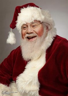 A great mall santa has a full white beard, knowing eyes, a jolly laugh, and just the right amount of wrinkles (or ironically few). Robin Williams Jack, Beautiful Christmas Scenes, Santa Suits, Saint Nicholas, Saint Nick, Santa Claus Is Coming To Town, Photoshop, The Night Before Christmas, Father Christmas