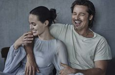Brad Pitt and Angelina Jolie Pitt, photographed by Peter Lindbergh for Vanity Fair Italia, Nov Brad And Angie, Brad Pitt And Angelina Jolie, Jolie Pitt, Peter Lindbergh, Jennifer Aniston, Vanity Fair Italia, Serge Gainsbourg, The Embrace, Famous Couples