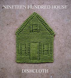 Nineteen hundred house dishcloth by Amanda Ochocki.