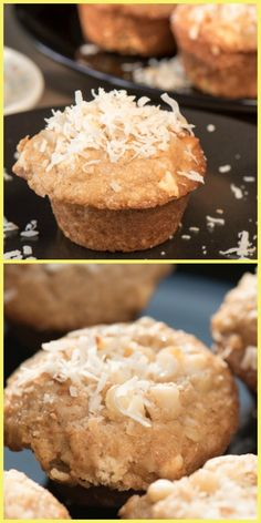 Coconut macadamia nut muffins are perfect anytime -- breakfast, snack or dessert! Not too sweet, easy to make and filling. Make extra to freeze!