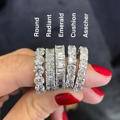 Eternity bands in all shapes, which is your fav?? Mine's Radiant