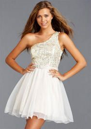 one shoulder short homecoming dress for teenagers - Google Search