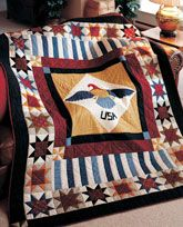 Valiant Eagle quilt from Patriotic Quilts Fall 2013. Quilt by Marianne Fons.