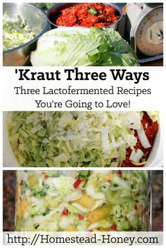Zesty twists on the traditional sauerkraut, these lacto fermented kraut recipes add intense flavor and live culture probiotics. | Homestead Honey