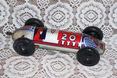 Rare Vintage Elenee Toys Tin Litho Pull Rod Speedway Racer #20,Vintage Toy,Toy,Antique Toy,Tin Litho by FolkloreAndYore on Etsy