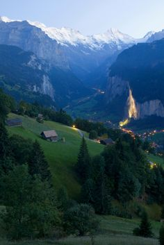 Wengen / Lauterbrunnen  Switzerland= I was there 33 years ago and will never forget how breathtaking it was.