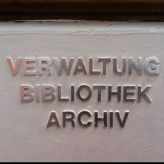 One of the most interesting things to see at the bauhaus archiv: the signage...