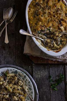 giroVegando in cucina: Gratin di pasta cremosa ai funghi
