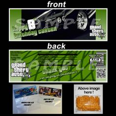 GRAND THEFT AUTO 5 BAGGIE TOPPERS