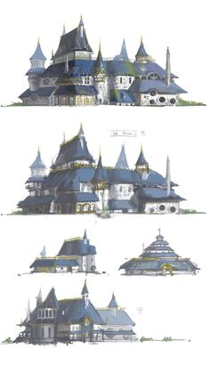 Undefined t dessin fantasy pinterest jdr dessin for Architecture fantastique