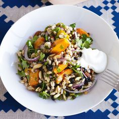 Cypriot salad with roast pumpkin & currants