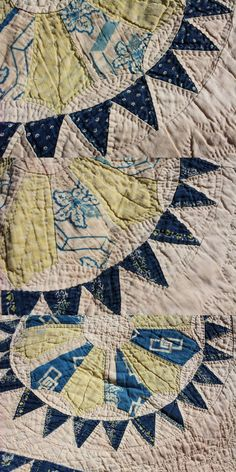 Patchwork Quilt mid 19th century 1840-1880.  Pattern: Wheel of Fortune or Pyrotechnics.  Source; Etsy; EmeliasHouseofLinens; Spring Branch, TX.