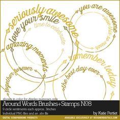 Around Words Brushes and Stamps No. 08- Katie Pertiet Brushes- DS580177- DesignerDigitals