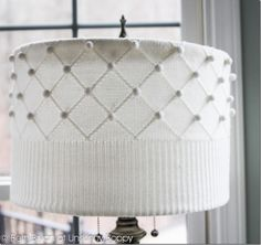 Make a sweater lampshade. i love this ideal for the changing seasons... what a great way to make a staple piece play well with the colors of the season