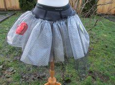 Upcycled Steampunk Clothing Bubblewrap Tutu Black by enduredesigns, $60.00