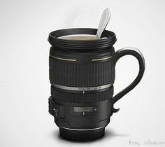 Camera Lens Cup: A brilliant concept design, though not a real cup.